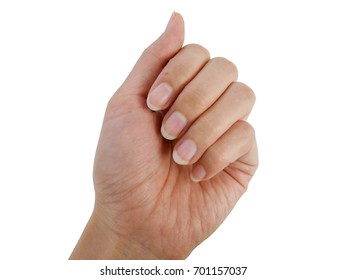 Close up fingernails lack of  nutrients and do not make nail no shape and not care, this image can be use for health care concept