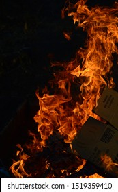 close up of fire burning