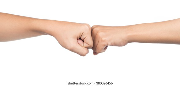Fist bump images stock photos vectors shutterstock close up of a fist bump against isolated on white background m4hsunfo