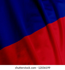 Close up of the flag of Haiti, square image
