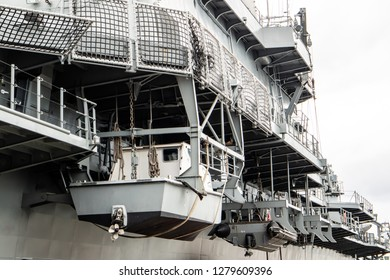 Close up of  the flagship and aircraft carrier battleship of the Royal Thai Navy.