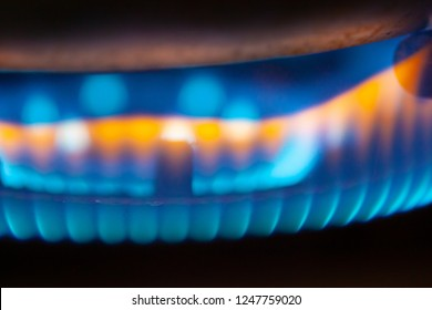 Close Up Flame From Gas Furnace for decoration work  and background