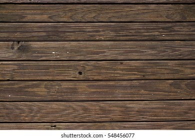 Close up of floor made of wooden planks