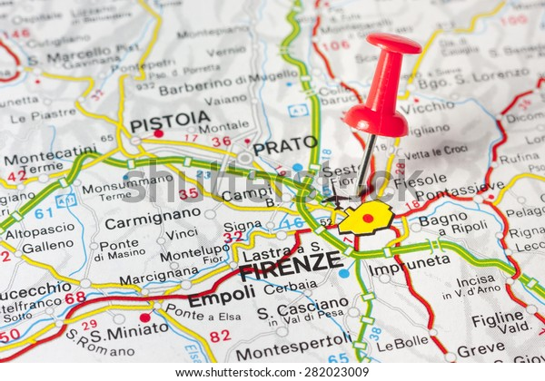 Map Of Italy Showing Florence.Close Florence Italy On Map Red Stock Photo Edit Now 282023009