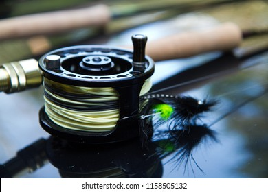 Close Up of a Fly Rod and Reel, Steelhead Fishing