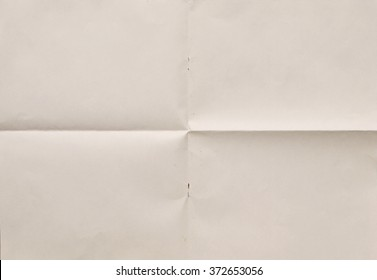 close up of the folded paper