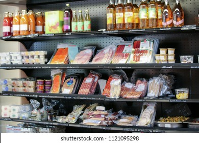 close up of food in supermarket