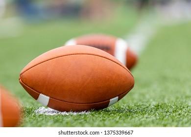 Close up of a football ball
