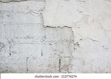 close up of fractured concrete surface