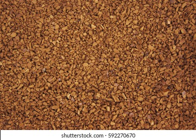 Close up of freeze dried coffee granules