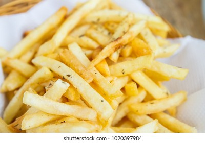 close up french fries