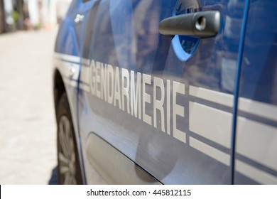 close up of french police car