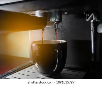 Close Up - Fresh coffee maker.