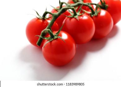 close up fresh tomato isolated