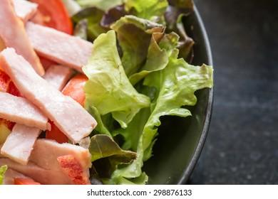 Close up of fresh vegetable salad