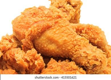 close up fried chicken