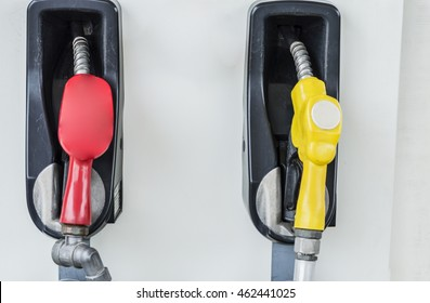Close up fuel dispensing pump.
