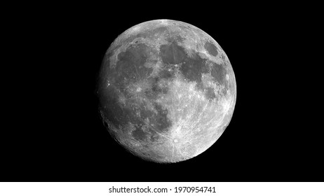 a close of FULL MOON in a dark night - the natural satellite of the earth also known as Luna, Selene and Cynthia