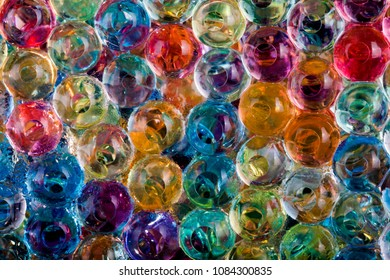 close up of gel balls for texture or background