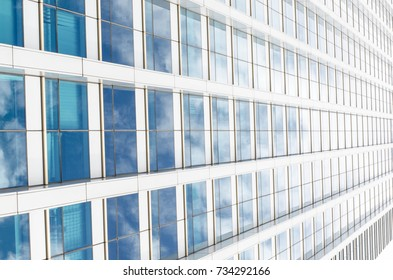 Close up glass of building window cityscape perspective abstract background selective focus