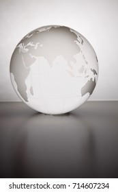 close up of the glass globe