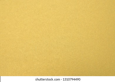 Close UP Gold Paper Texture Background Soft Light on Surface