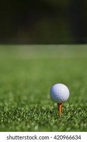 Close up of golf golf ball