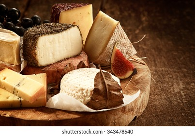 Close Up of Gourmet Cheese Tray Served on Wooden Board - Variety of Cheeses on Rustic & Cheese Tray Images Stock Photos \u0026 Vectors | Shutterstock