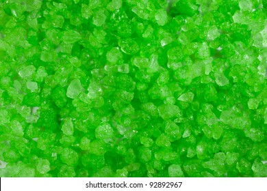 A close up of green crystal rocks.