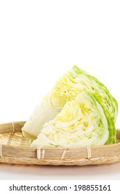 Close - up green fresh cabbage vegetable