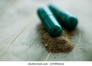 Close up Green marijuana herb.
