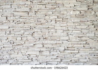 Close up of a grey brick-wall, Modern stone texture background
