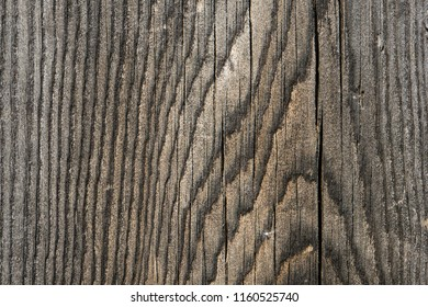 Close up of grey weathered wooden texture with cracks and natural wooden pattern. Abstract natural background