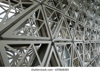 Close up of gridshell structure