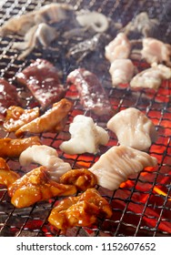 Close up of grilled entrails