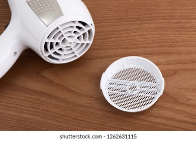 Close up of Hair dryer air-inlet grille cover for dust proof