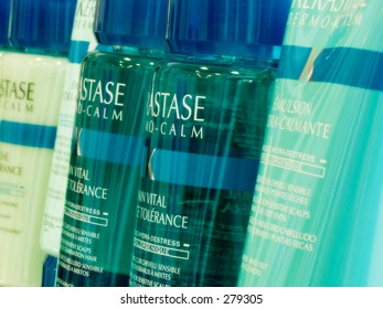 Close up of haircare products