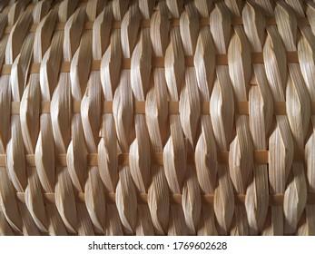 Nahaufnahme-Handwerk mit Bambusstruktur und Hintergrund