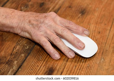 Close up of a hand and mause