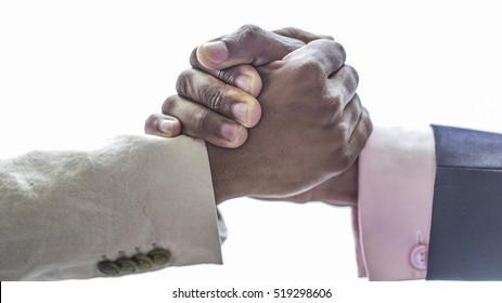close up hand shake