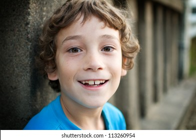 close up of a happy little boy