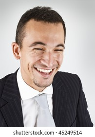 close up of a happy young businessman