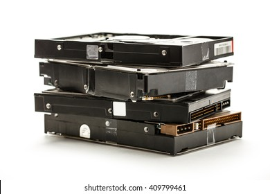 Close up of hard drive hardware for computer
