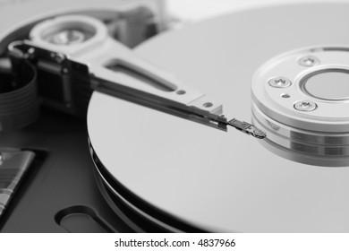Close up of a hard-drive.