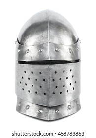 Close helmet isolated on a white background. Studio high-resolution image.