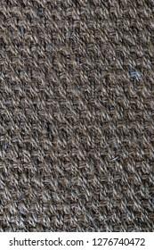 Close up Hemp carpet, Sisal background sisal texture