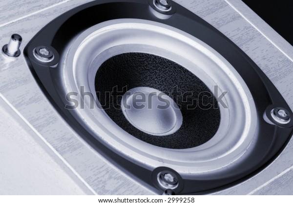 Close up of a hi-fi speaker