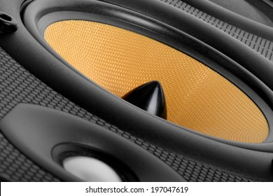 close up of A high end audio speaker