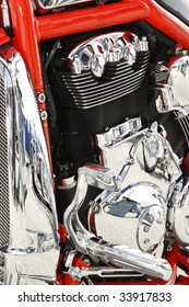 Close up of a high power motorcycle