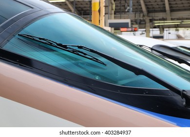close up of high speed train ,Japan